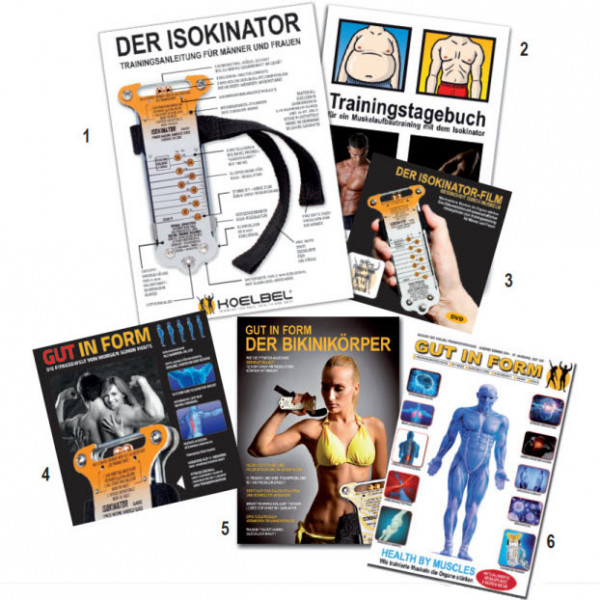 Mit jedem Isokinator erhalten Sie ebenfalls diese nützlichen Informationen und Trainingshilfen