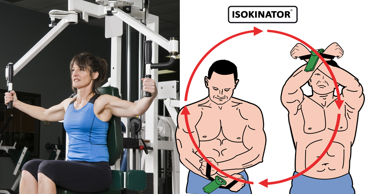 Brustmuskeltraining-Butterfly-gegen-Isokinator