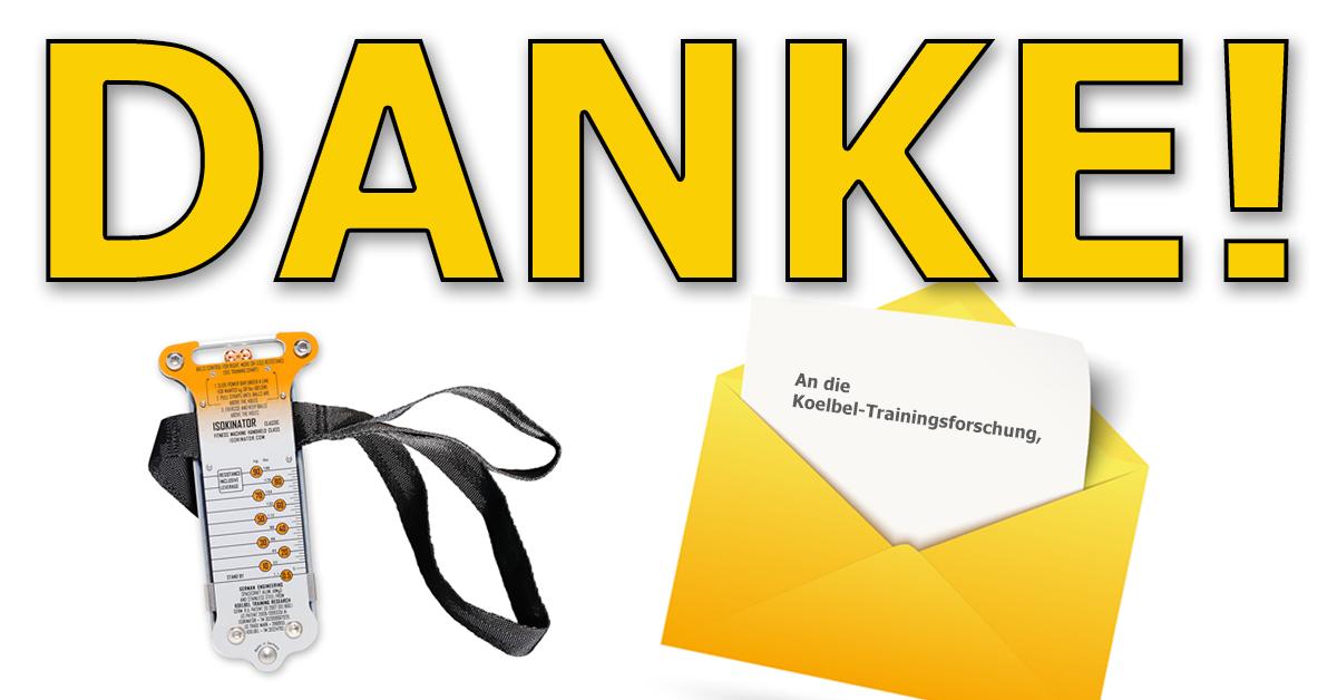 Dankschreiben-Isokinator