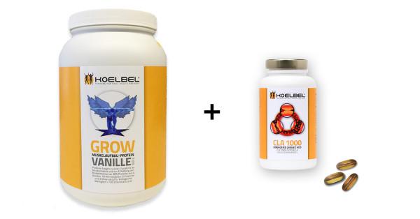 Profipaket 1 mit Grow-Protein und CLA-Kapseln