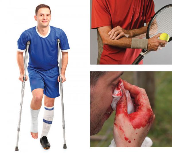 Due Verletzungsgefahr im Sport ist groß. Besser ein Training ohne Ruck und Stoss.