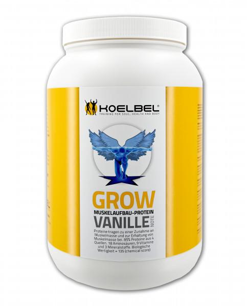 Grow Muskelaufbau-Protein aus 4 Komponenten Vanille Geschmack