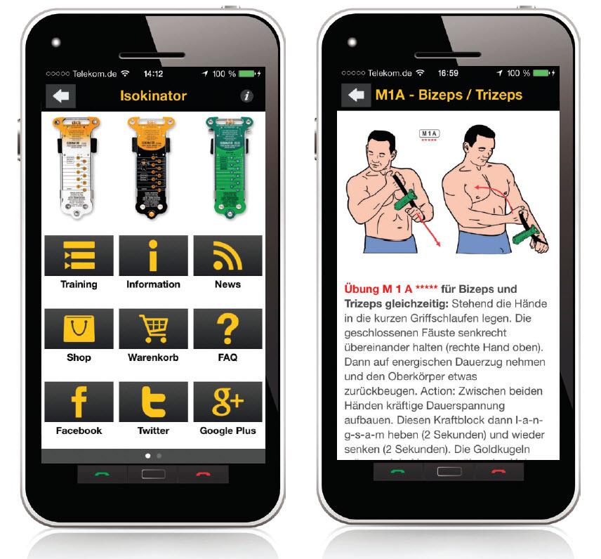 Isokinator App für das Smartphone kostenlos im App Store